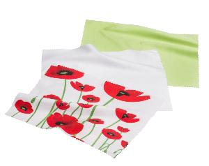 HILCO Microfibre Cleaning Cloth Tri-Pack ~ Spring Poppies 34/688/9999