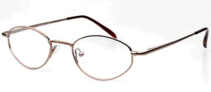 Ladies Metal Spectacle Frame ~ Flex Sides ~ Bronze (D3)