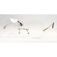 Snooker Spectacles ~ Rimless Metal Gold GF Frame Only.