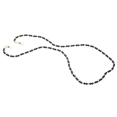 HILCO PEARL BEAD COLLECTION SPECTACLE CHAIN ~ Black Gold 08/412/8900