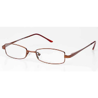 Ladies Metal Spectacle Frame ~ Flex Sides ~ Red (D1)