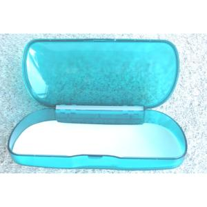 Large, Rigid, Plastic, Budget Spectacle, Sunglasses Case in Sea Green