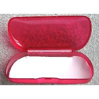 Large, Rigid, Plastic, Budget Spectacle Case in Bright Red