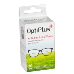 Hilco Optiplus Anti-Fog Lens Wipes. Box of 30 Wipes. Suitable for All Coated lenses.