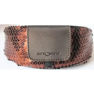 Brown Sequin Spectacle Case from Centrostyle, Large Size.