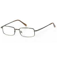 Metal Spectacle Frame ~ Flex Sides ~ Matt Brown (C3)
