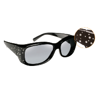 Havens Fit Over Polarized Sunglass ~ Dahlia 1 ~ Black/Crystal