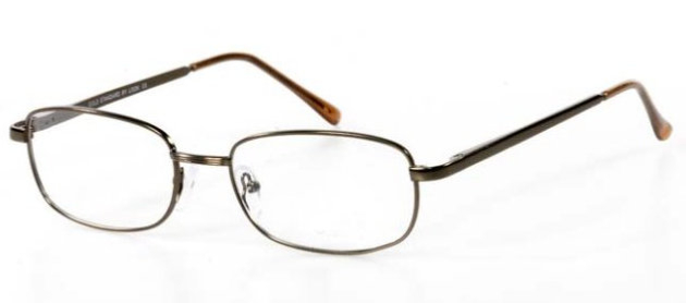 Eyeglass Frame Joint : Ladies Metal Spectacle Frame ~ Flex Sides ~ Brown (B9)