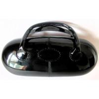 Black Patent Leather Look Spectacle Case, Handbag Style.