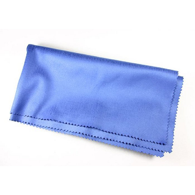 Specialist Laboratory Grade Microfibre Lens Cleaning Cloth ~ Blue