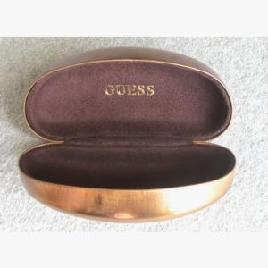 Guess by Marciano XL Sunglasses Case in Metalic Bronze with Cloth. Slightly Damaged