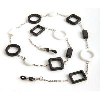 HILCO CIRCLE & SQUARE SPECTACLE CHAIN ~ 08/210/0000 Black & White