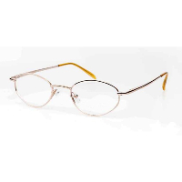Ladies Metal Spectacle Frame ~ Flex Sides ~ Gold (D4)