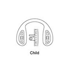 Hilco Logic® Fit Silicone Strap Bridge, Push or Screw On / Child (part 25/900/0000)