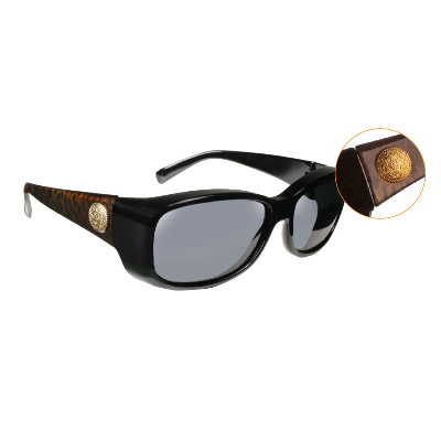 Haven Fit Over Polarized Sunglass ~ Dahlia 2 ~ Leopard Black/Grey