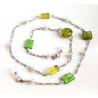 HILCO BEAD & PEARL SPECTACLE CHAIN ~ 08/209/1000 Green