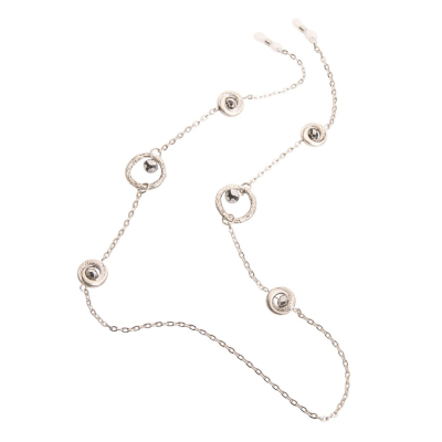 HILCO NORA COLLECTION SPECTACLE CHAIN ~ Beatrice Silver & Diamond 08/400/5000