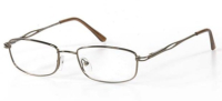 Ladies Metal Spectacle Frame ~ Flex Sides ~ Brown (B9)