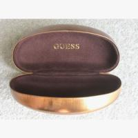 Guess by Marciano XL Sunglasses Case in Metalic Bronze with Cleaning Cloth.