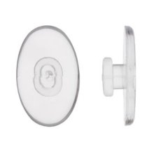 Hilco Clear Slide-On Vinyl Nose  Pads ~ 1x Pair Oval 12mm