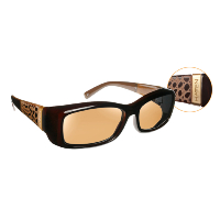 Havens Fit Over Polarized Sunglass ~ Freesia 1 ~ Croc/Amber