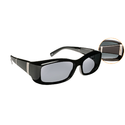 Havens Fit Over Polarized Sunglass ~ Freesia 2 ~Black/Grey