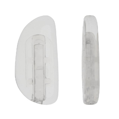 Zeiss Clear Silicone Bayonet Nose Pads 1x Pair 17mm