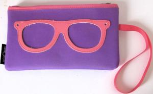 Purple and Pink Centrostyle Spectacle Pencil Case. Great Children's Gift.