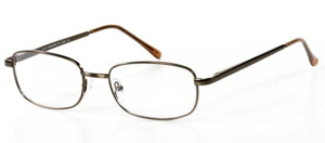 Metal Spectacle Frame ~ Flex Sides ~ Brown (B10)