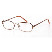 Ladies Metal Spectacle Frame ~ Flex Sides ~ Red (C8)