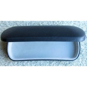 Blue, Faux Leather, Metal Spectacle Case with Grey Lining.