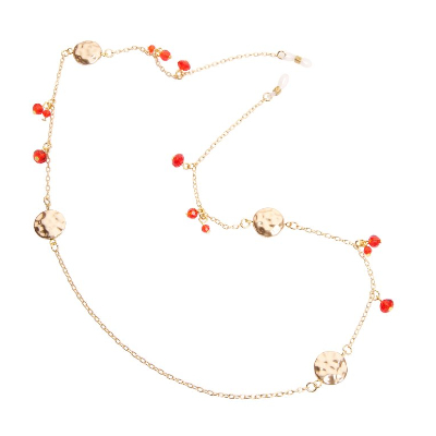 HILCO FESTIVE COLLECTION SPECTACLE CHAIN ~ 08/400/9000 Gold / Red