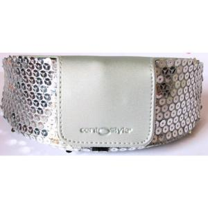 Silver Sequin Spectacle Case from Centrostyle, Large Size.