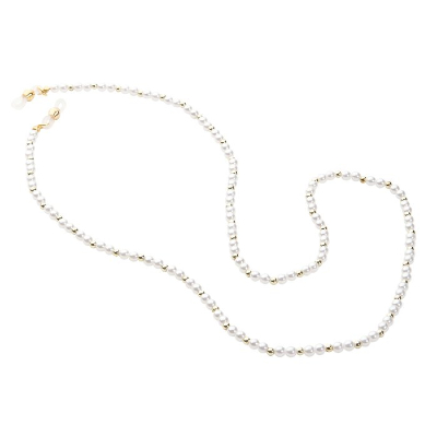 HILCO PEARL BEAD COLLECTION SPECTACLE CHAIN ~ Pearl Gold 08/412/8930