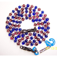 CHADES by URSULA GLASS BEAD SPECTACLE CHAIN ~ Blue / Red