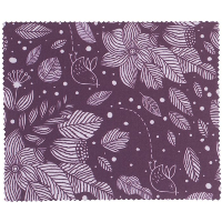 HILCO Microfibre Cleaning Cloth ~  Purple Leaves 44/641/0999