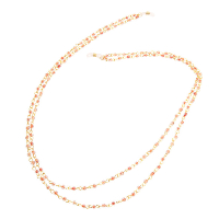 HILCO ZINNIA COLLECTION SPECTACLE CHAIN ~ 08/400/6000 Orange Double Strand