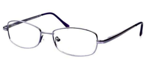 Ladies Metal Spectacle Frame ~ Flex Sides ~ Lilac (D10)
