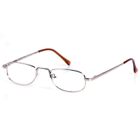 Unisex Metal Half Eye Spectacle Frame ~ Flex Sides ~ Gold (A2)