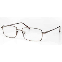 Metal Spectacle Frame ~ Flex Sides ~ Bronze (D6)