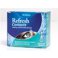 Allergan Eye Drops ~ Refresh Contacts 20x 0.4ml vials