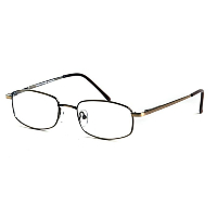 Metal Spectacle Frame ~ Flex Sides ~ Antique Brown (C3)
