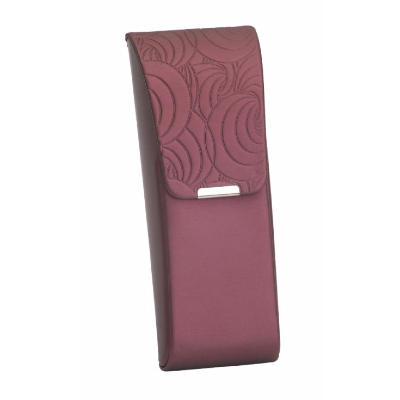 Hilco Spectacle Case Della ~ Flip-Top, Burgundy ~ 07/800/4100